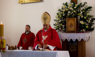 Msza Święta z udzieleniem bierzmowania, którą celebrował J. E. ks. bp Edward Białogłowski.